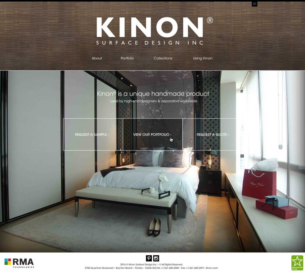 Kinon Homepage Design