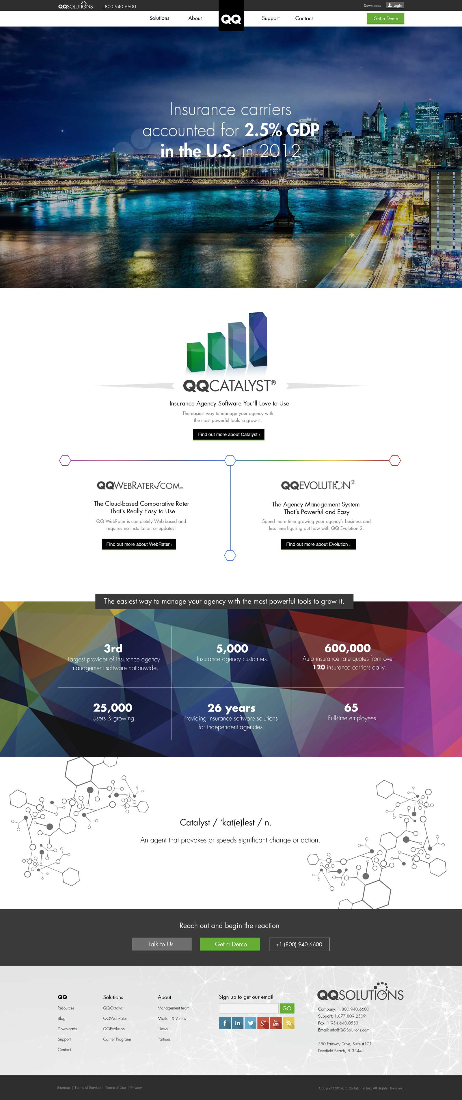 QQSolutions Homepage Design