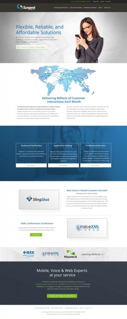 Surgent Homepage design