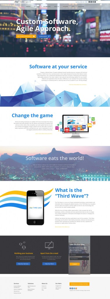Thirdwave Homepage design