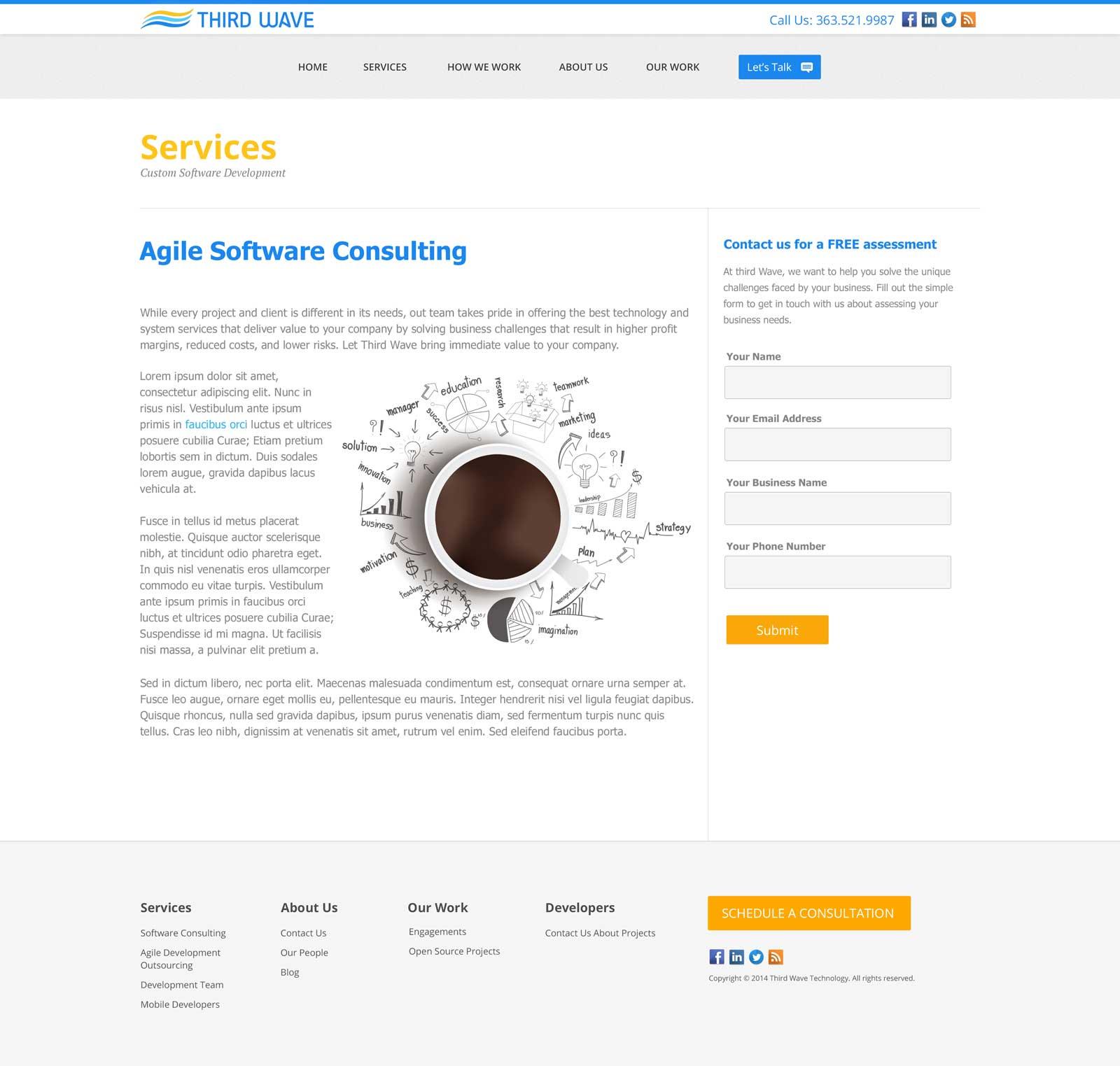Thirdwave Internal Page design