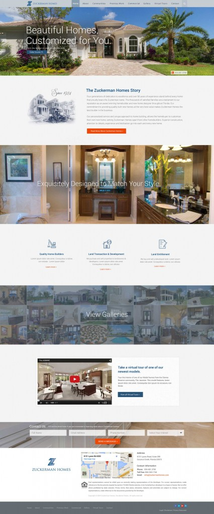 Virtual Tour Homepage Design