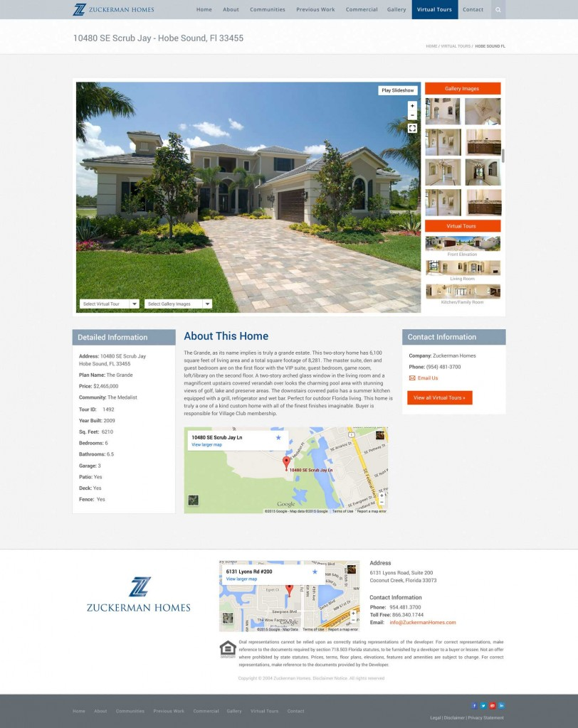 Zuckerman Homes Virtual Tour Design